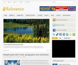 Relevance Blogger Template