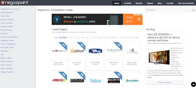 Vendi i tuoi prodotti Gratis su un Comparatore Prezzi Online! Aumenta la visibilità del tuo negozio e delle tue entrate con Negozipoint!