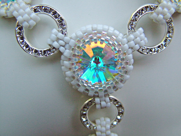 Center: Bead Bezel Swarovski Rivoli & Swarovski Rings