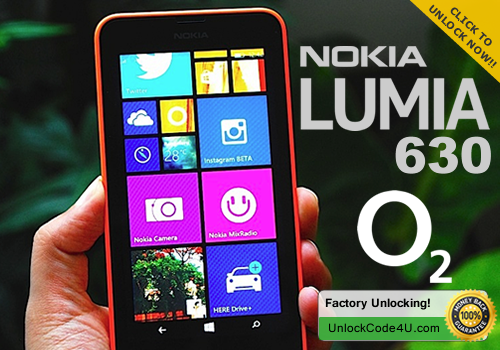 Factory Unlock Code for Lumia 630 from O2 network UK/Ireland