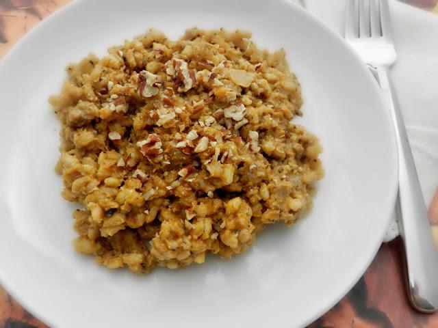 Sausage & Pumpkin Barley Risotto