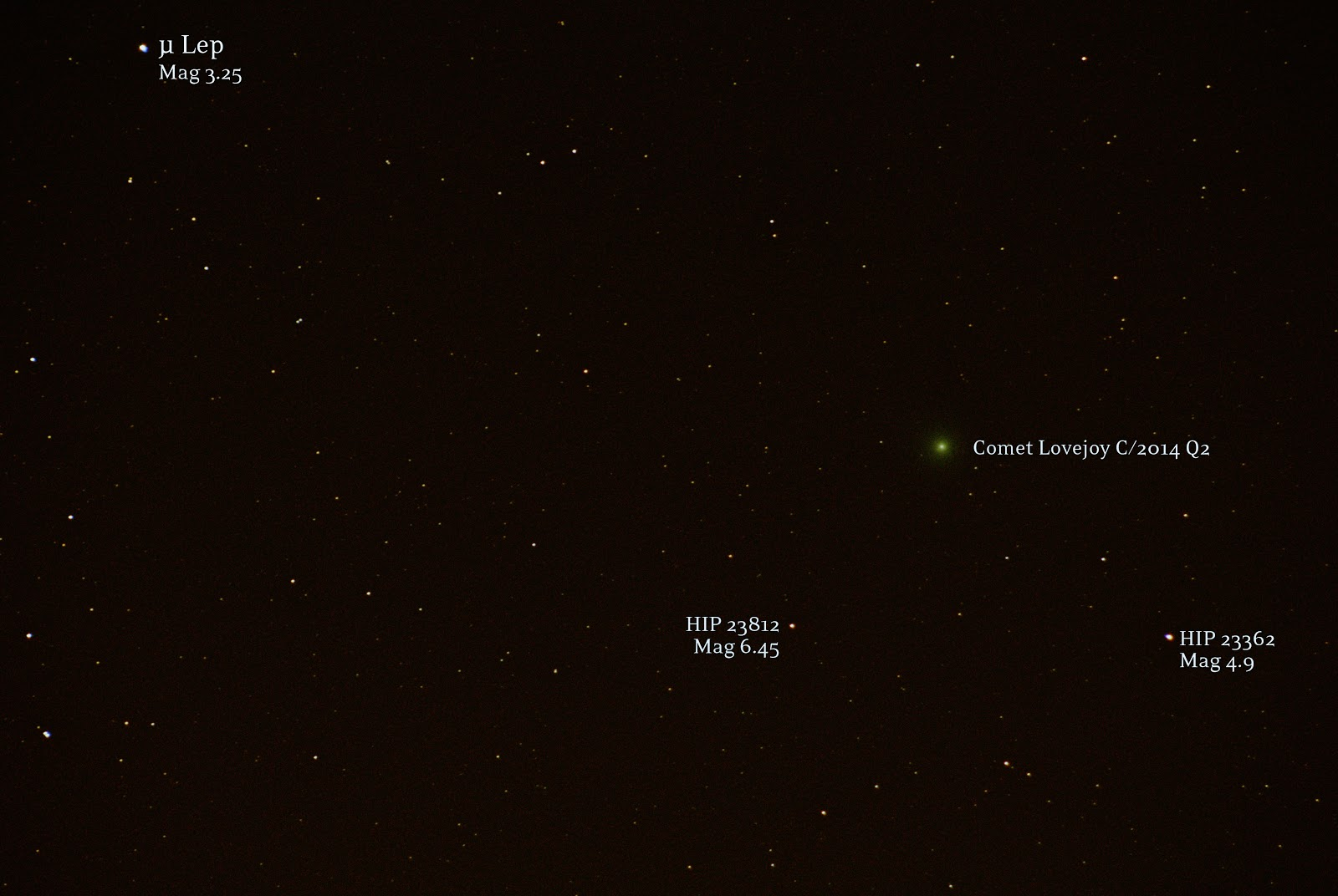 comet lovejoy new years eve
