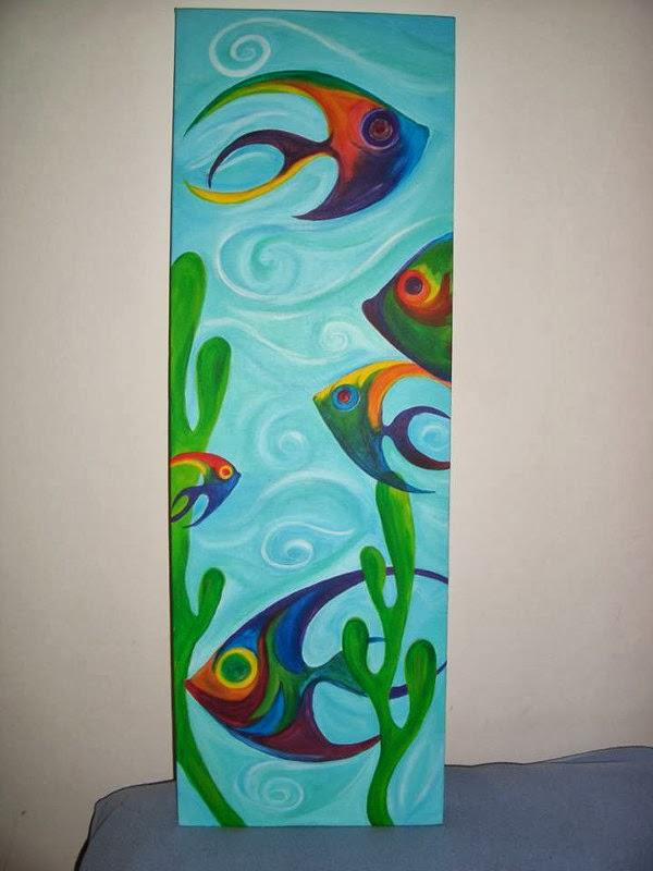 Beinhha creaciones peces de amor for Cuadros con peces