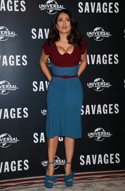 Salma Hayek strikes a pose at Savages Photocall in London