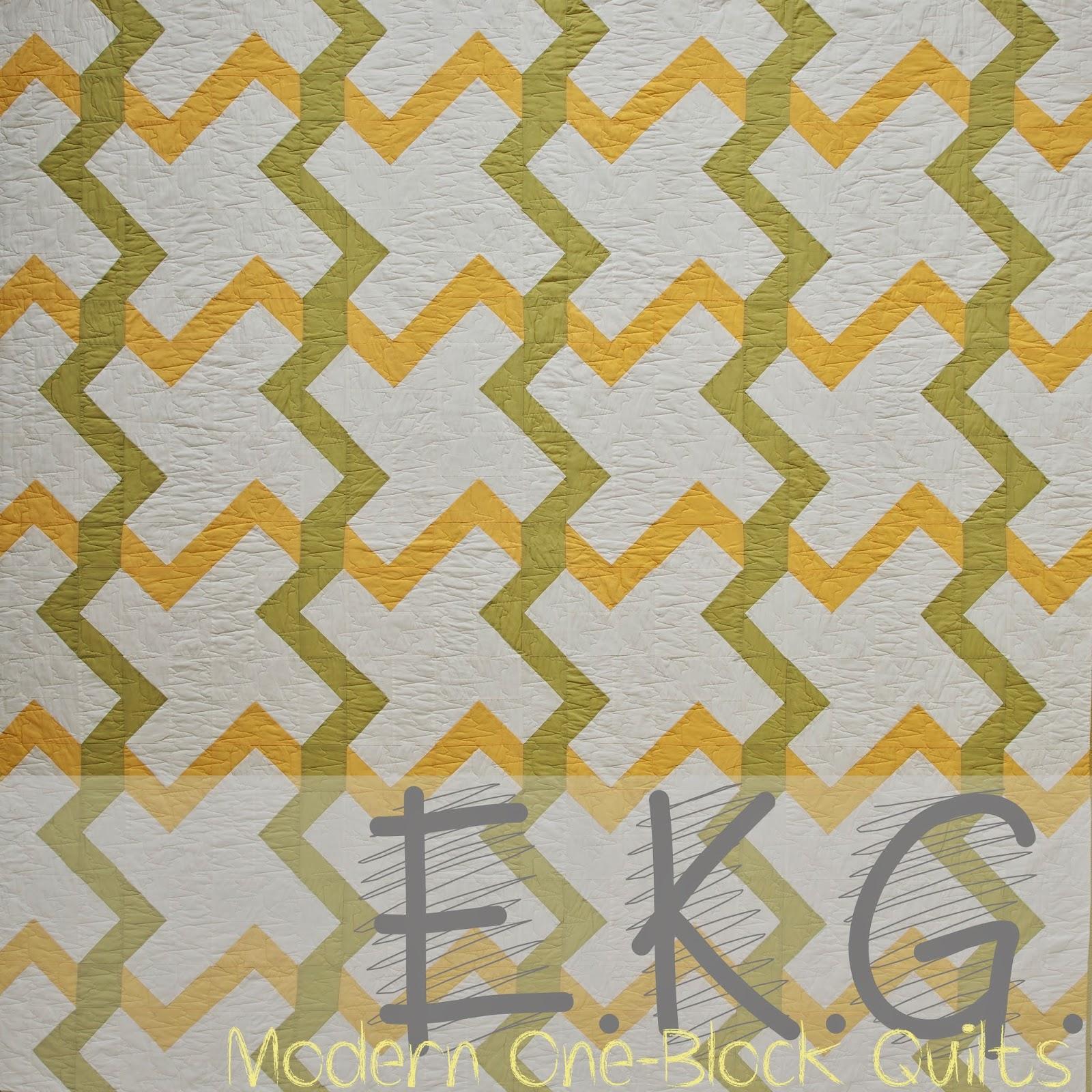 Piece N Quilt: E.K.G. - A Modern One-Block Quilt