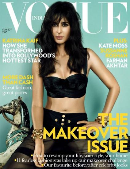 Katrina Kaif  - Katrina Kaif On Vogue Magazine Cover May 2011 Edition