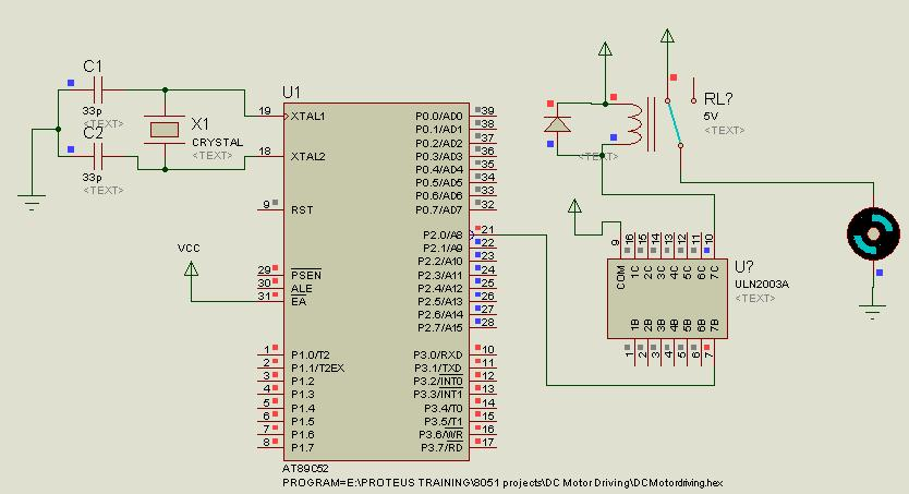 Interfacing relay with 8051