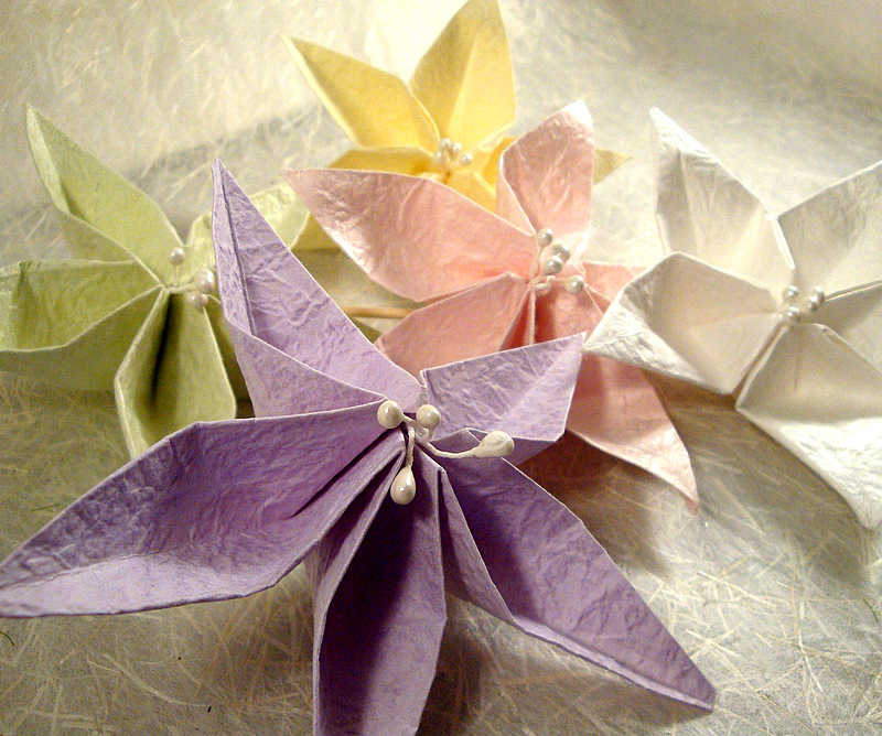 Jasmine Origami Napkin Flower Maniacs Instructions