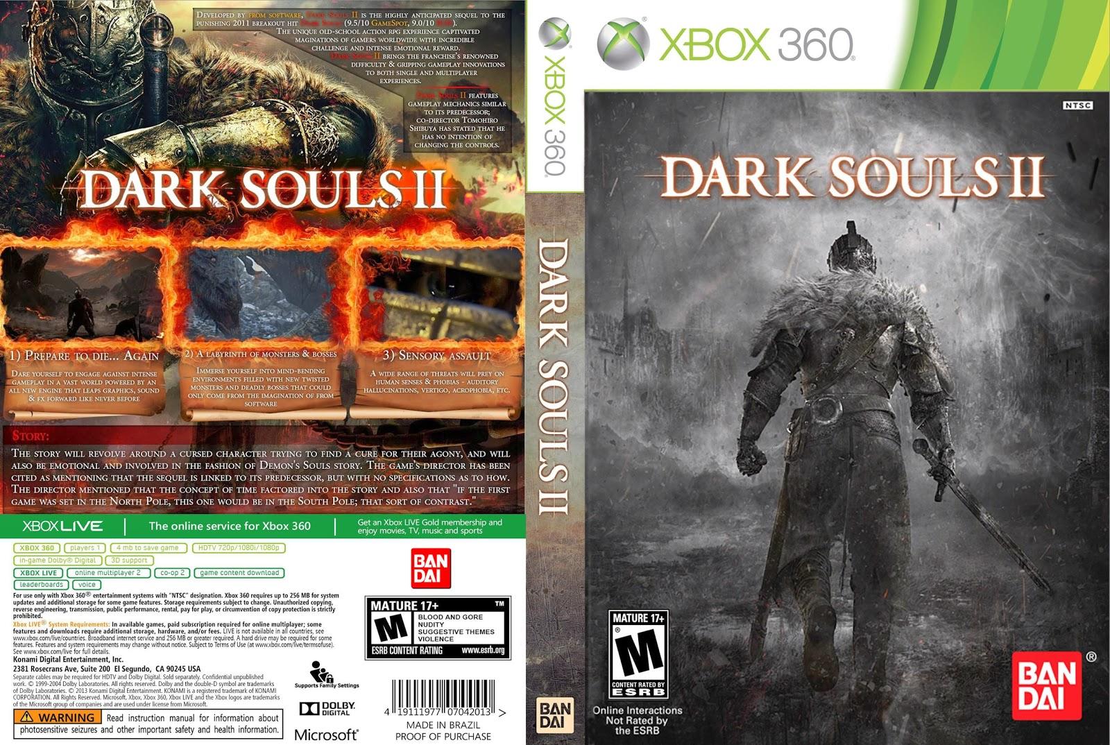 Capa Dark Souls II Xbox 360
