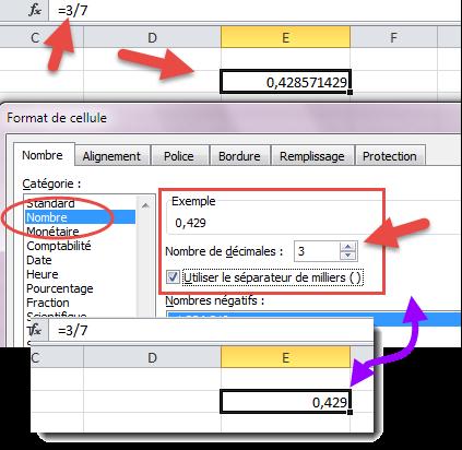 Format nombre décimal