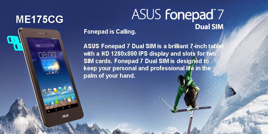 tablet, tablet ASUS Fonepad7 ME175CG , fonepad 7, asus fonepad, orbit komputer, Toko Orbit komputer, tablet murah,