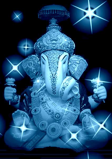 The God of all, Shri Ganesha, Shining Ganesha, Star Ganesha
