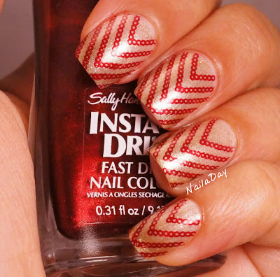 NailaDay: Dior Golden Light with Sally Hansen Wined Up stamp