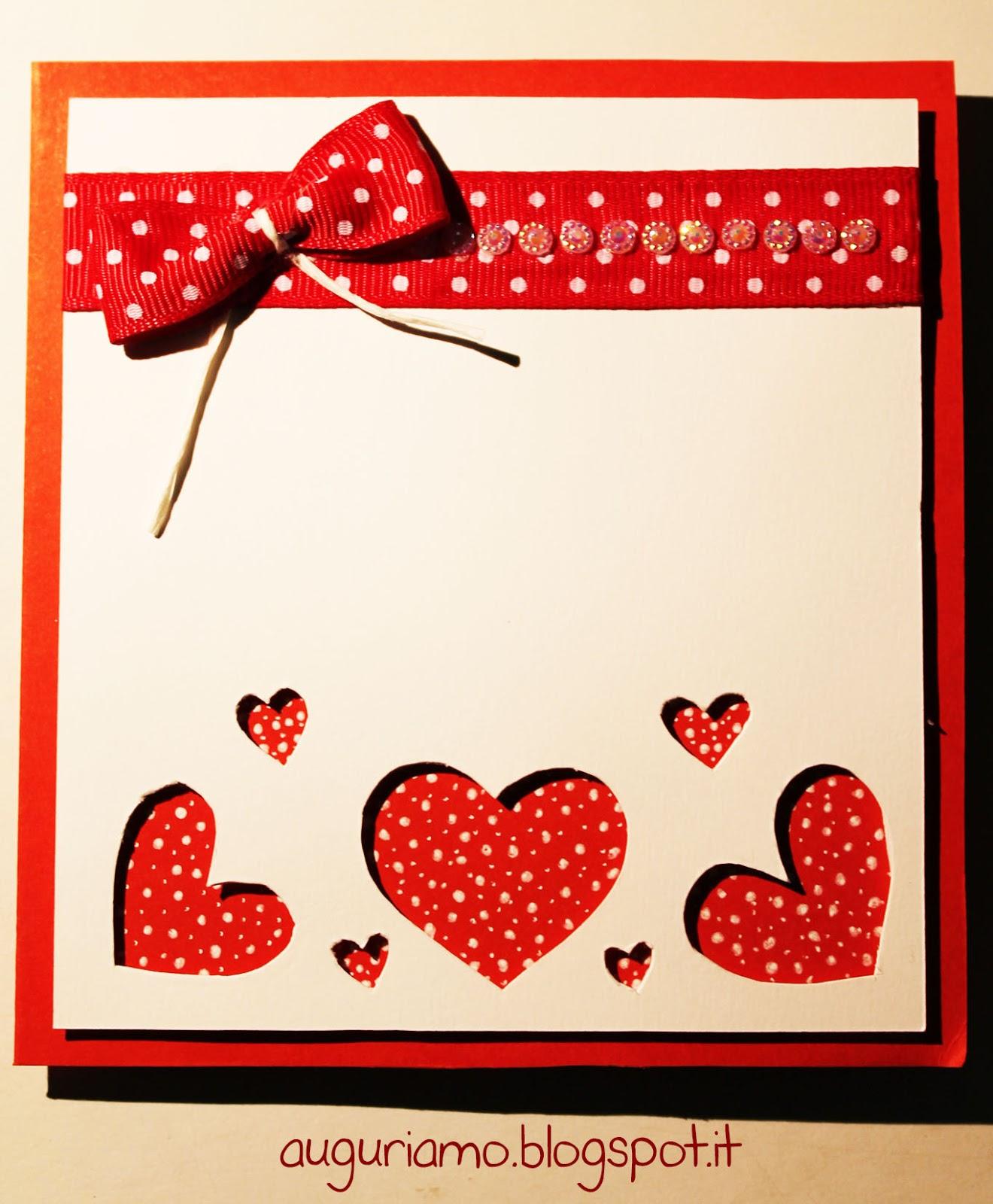 Popolare Auguriamo!: Biglietto anniversario matrimonio in rosso. AP63