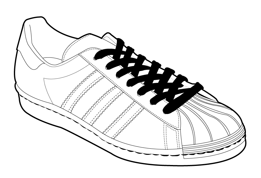 How To Draw Shoe Adidas
