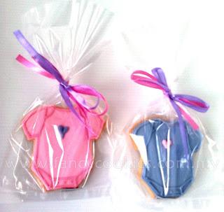 fancy cookies aqiqah rompers pink purple