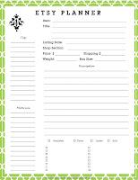 Galerry free printable etsy planner