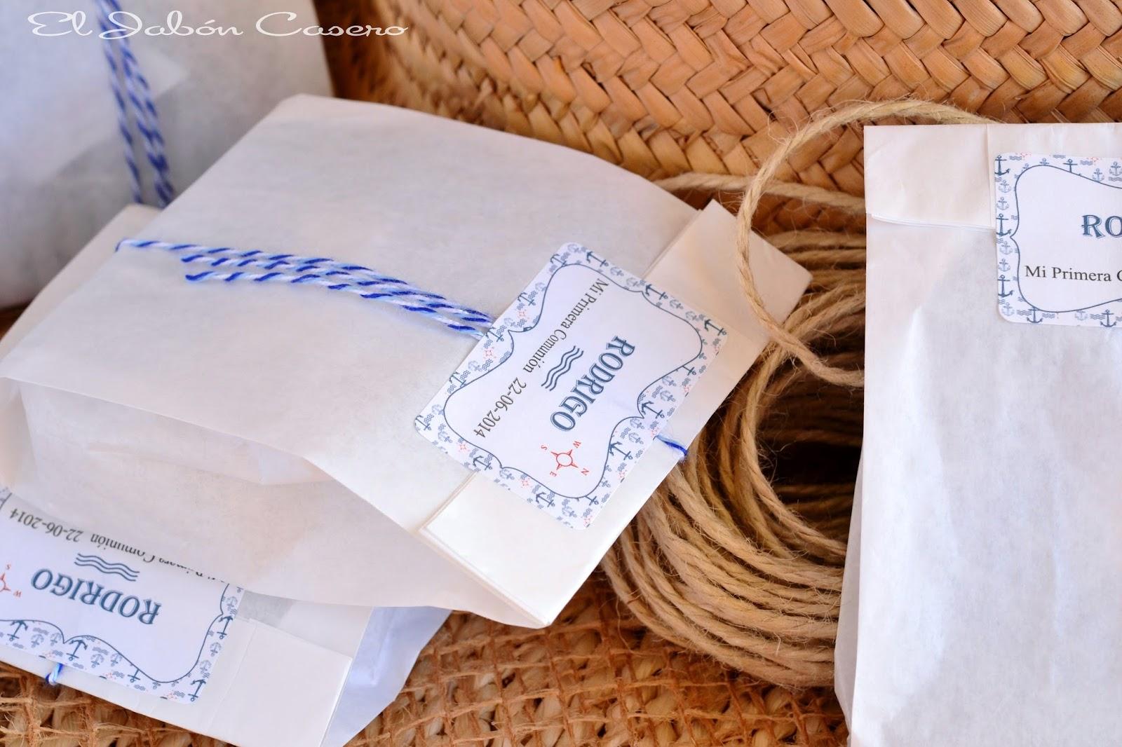 estilo navy detalles de comunion jabones hechos a mano