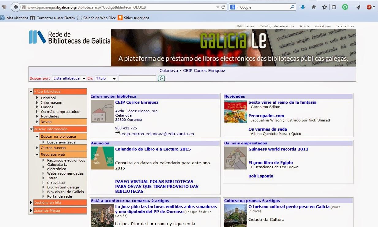 http://www.opacmeiga.rbgalicia.org/Biblioteca.aspx?CodigoBiblioteca=OEC018