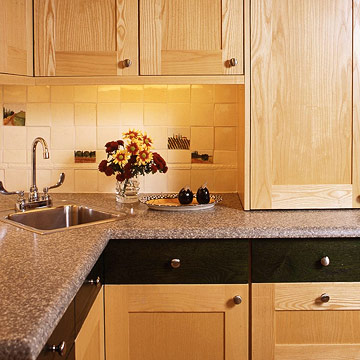 Corner kitchen sink ideas home styles Kitchen design with corner sink