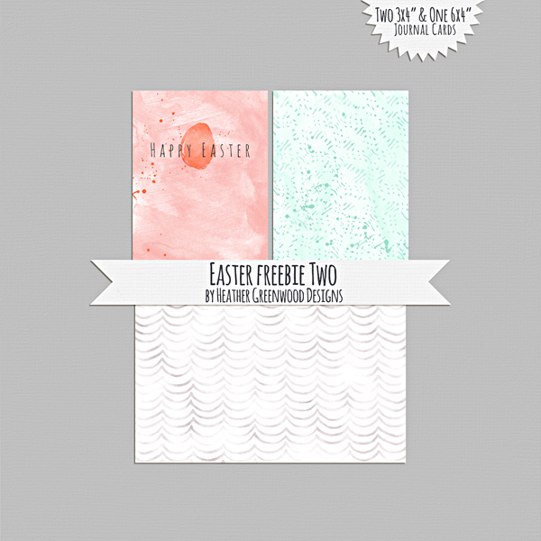 Easter Freebie Journal Cards by Heather Greenwood Designs