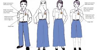 seragam SMA, seragam, sekolah SMA, Permendikbud  No.45 Tahun 2014