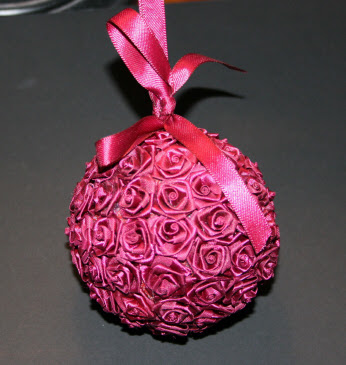 Floral Wedding Leftovers Christmas Ornaments