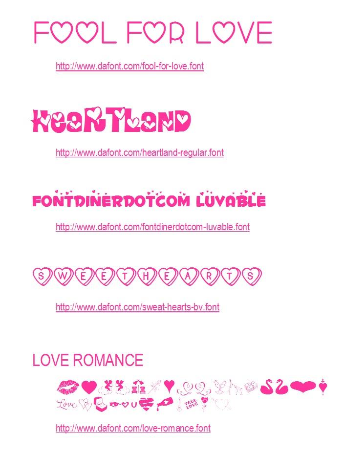 20 Free Valentine Fonts