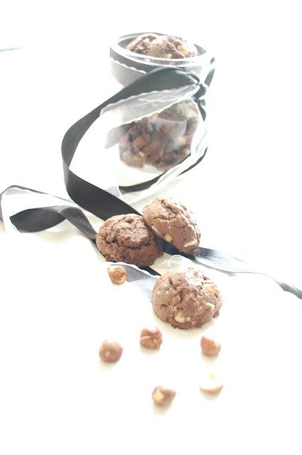 עוגיות שוקולד ואגוזי לוז