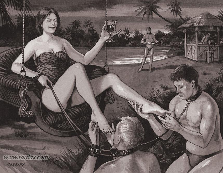 Dominación femenina lesbo