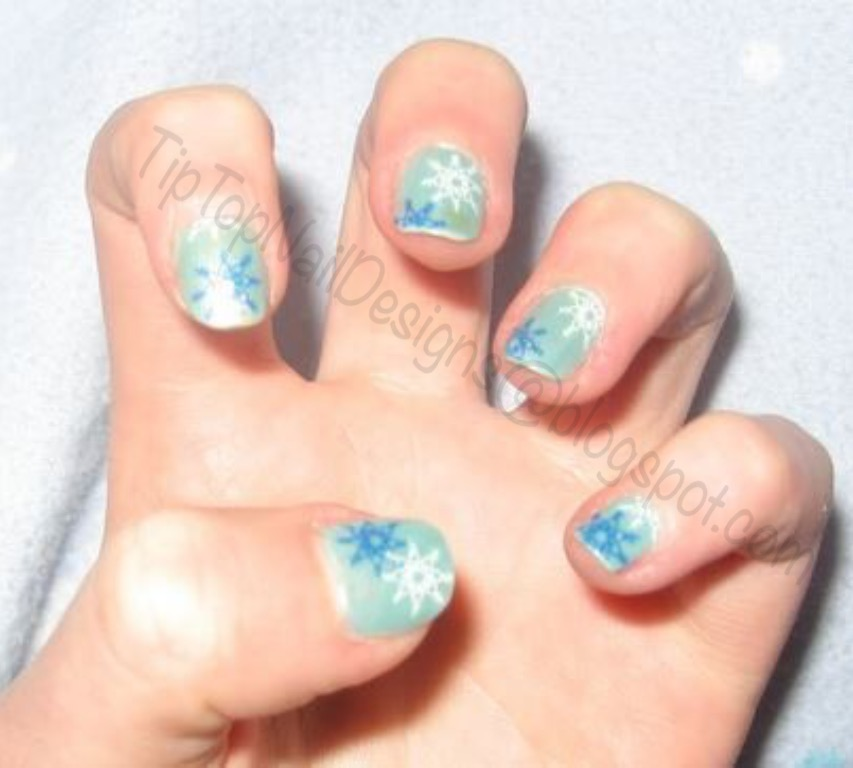 Tip Top Nail Designs Snowflakes