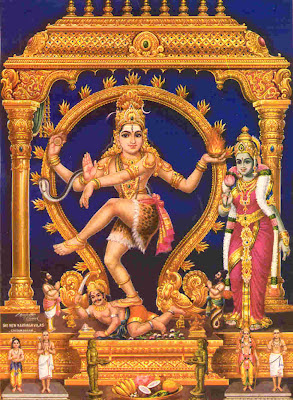 Picture of Lord Nataraja, the Dancing Form of Shiva
