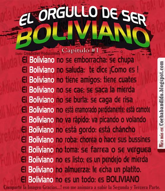 modismos y jergas bolivianas