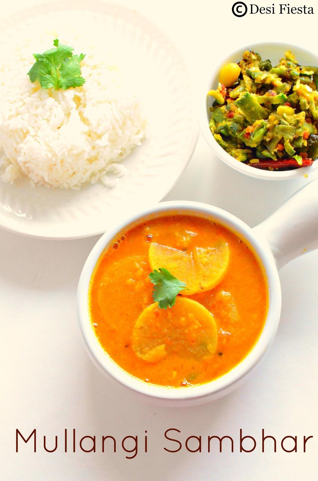Radish Sambhar Recipe