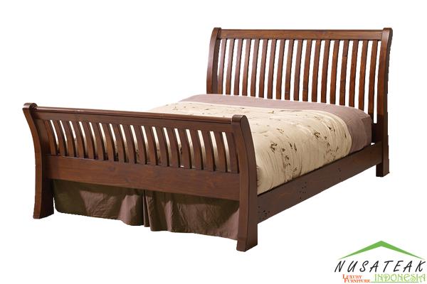 Lotu Minimalist Queen Bed - Nusa Teak