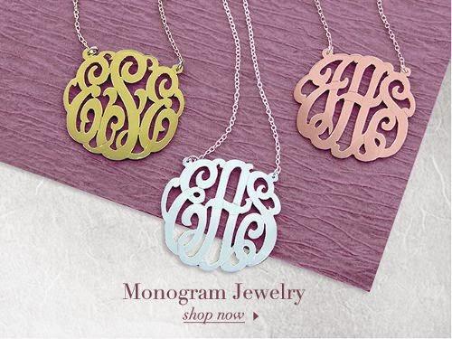 monogram%2Bnecklace 45% off store wide at MonogramOnline.com
