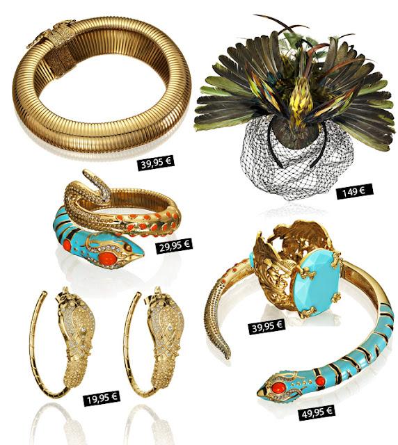 Fascinator, jewelry Anna dello Russo for H&M prices