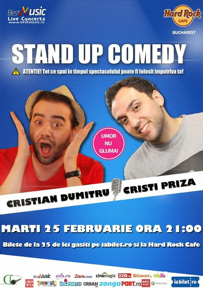 stand up comedy marti bucuresti