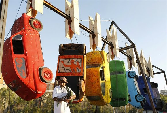Art Cars Hanging Out To Dry in Chile