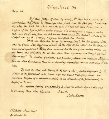 antique vintage letter of john adams