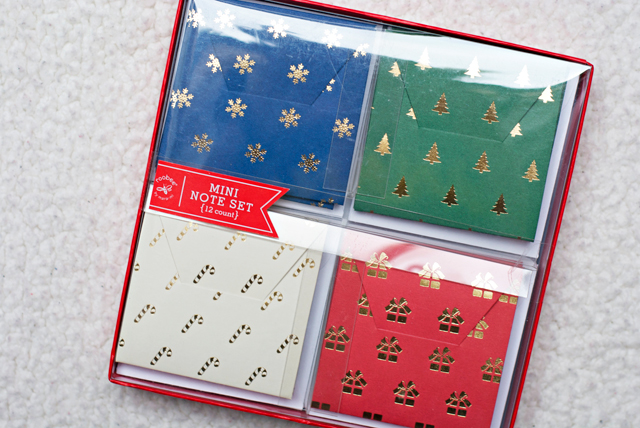 stationery mini note set christmas cards