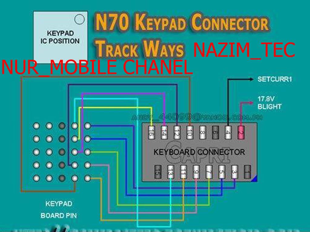 Nokia N70 Keypad Light Solution