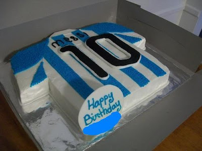 messi happy birthday cake