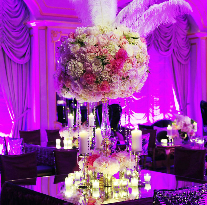 25 stunning wedding centerpieces part 8 belle the magazine for Ideas for wedding centerpieces on tables