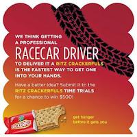 Ritz Crackerfuls idea banner -hire a Race car driver