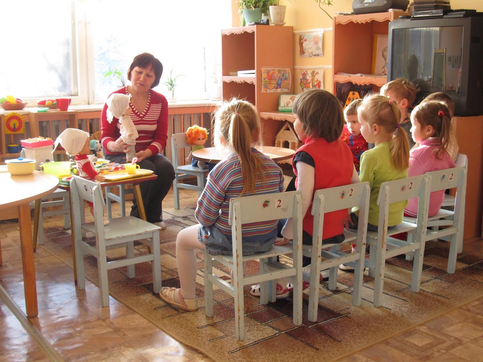 знакомство детей с профессией повара в младшей группе