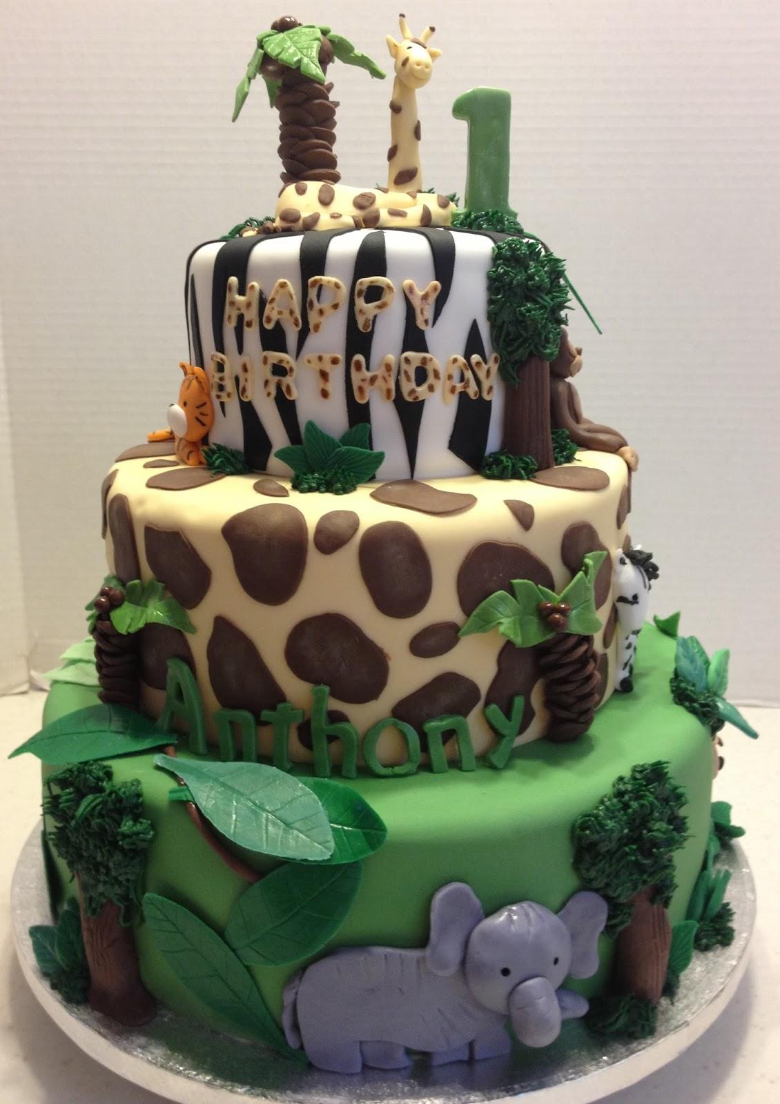 Marymel Cakes Safari 1st Birthday