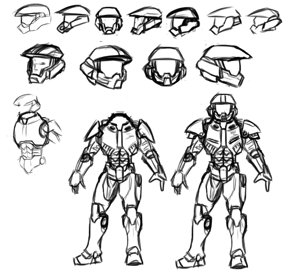 Mater Cheif Free Coloring Pages Master Chief Coloring Page