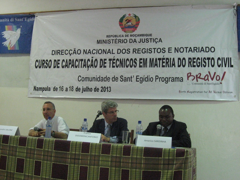 Comunity of Sant'Egidio: Training courses on civil registration (Nampula)