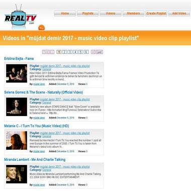 realtv com - müjdat demir 2017 - music video clip playlist